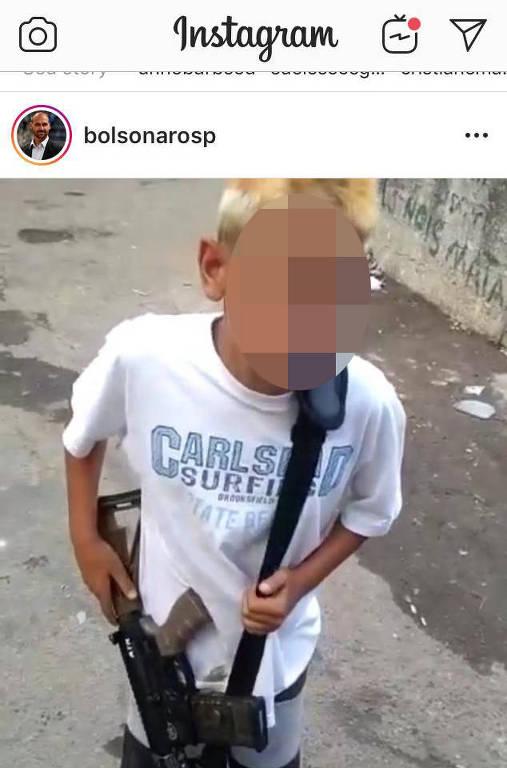 https://www1.folha.uol.com.br/cotidiano/2019/06/filho-de-bolsonaro-publica-em-rede-social-foto-de-crianca-com-rifle-nas-maos.shtml
