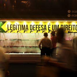 Stand da Taurus e da CBC durante a principal feira de armas do Brasil, a LAAD Defence & Security 2019 - Bruno Fonseca | Agência Pública