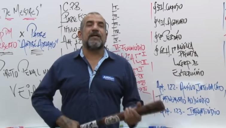 Norberto Florindo Filho ensina práticas de tortura e execução para concurseiros | Foto: Reprodução